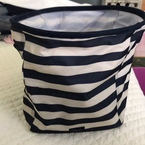 Thirty-One mini storage bin -navy stripe